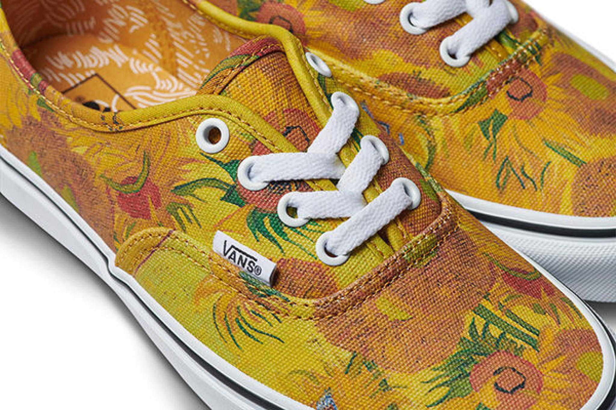 Vans sk8 hi van gogh almond blossom, Women's Fashion, Shoes