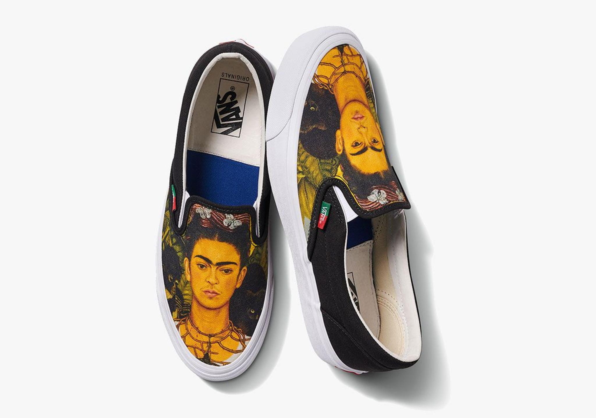 The Vans collection inspired by the work of Frida Kahlo