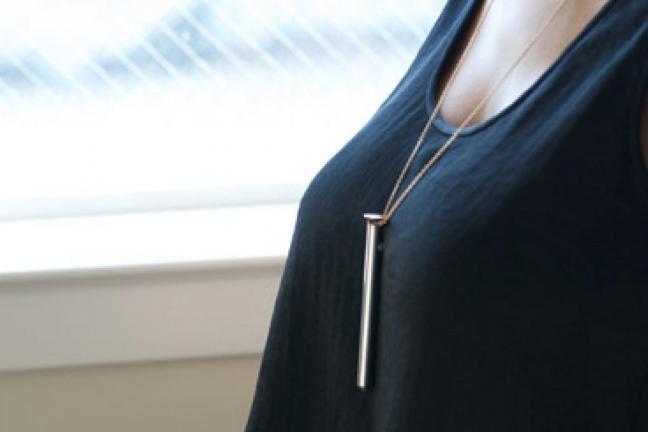 Portable vibrator necklace