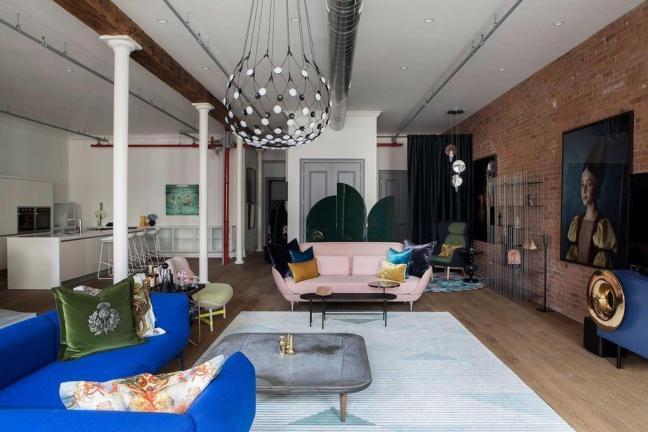 Kolorowy loft w Nowym Jorku