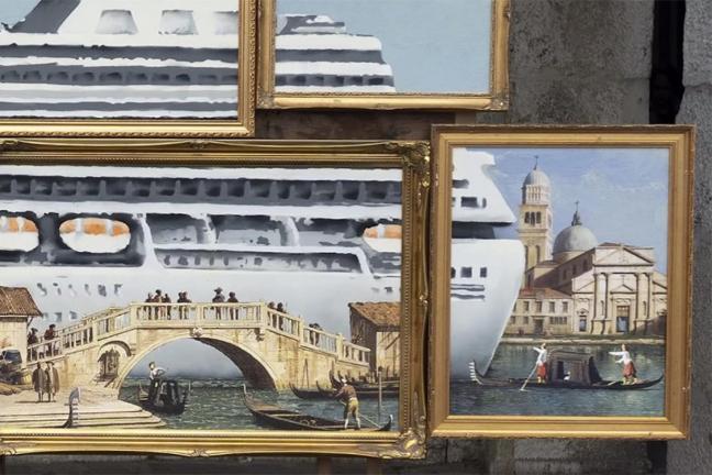 Banksy pojawił się na Biennale w Wenecji
