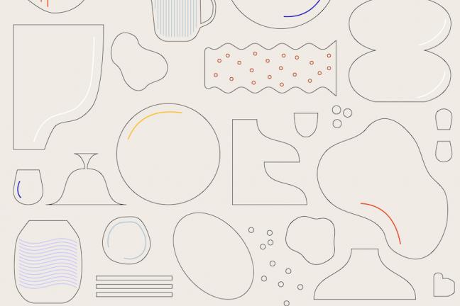 Plakat Targi Rzeczy Ładnych Ceramika 2021