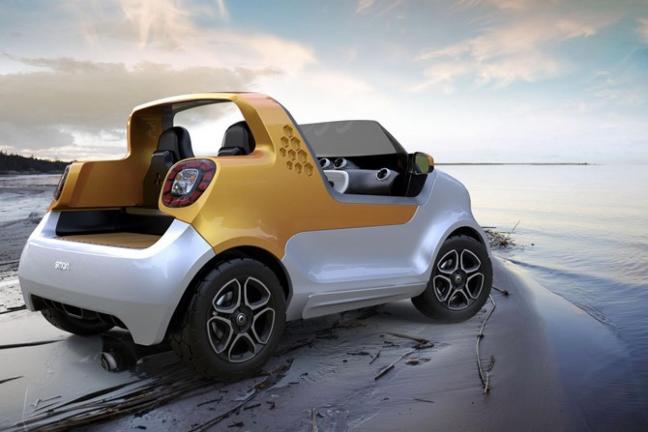Samochód-motorówka Smart Forsea