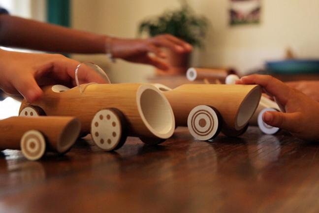 Samochodziki z bambusa