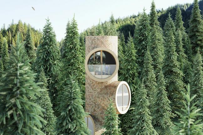 Domek w lesie, który wygląda jak… Minionek!