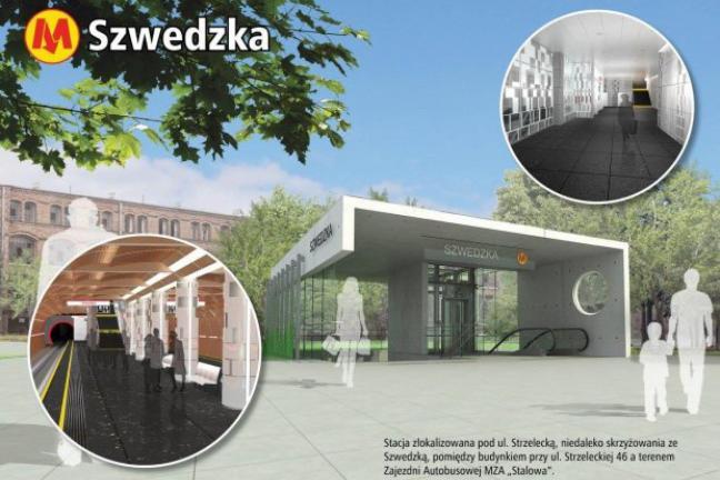 Wejście do nowej stacji warszawskiego metra zaskakuje