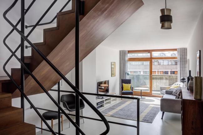 Mieszkanie w kolorach Le Corbusiera