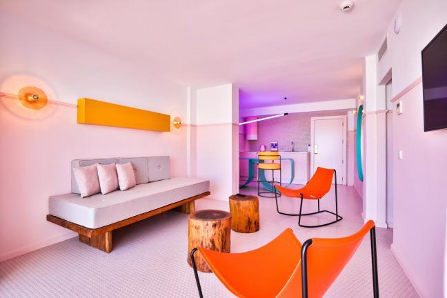 Pastel colors on Ibiza