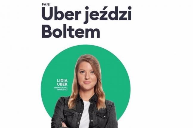 Uber jeździ Boltem - pomysłowa kampania Bolta