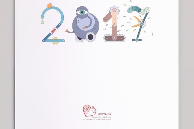 Dizajn dla dzieci: Kalendarz-kolorowanka ROBOTY  !!! KONKURS !!!