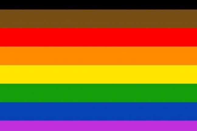 Nowa wersja tęczowej flagi