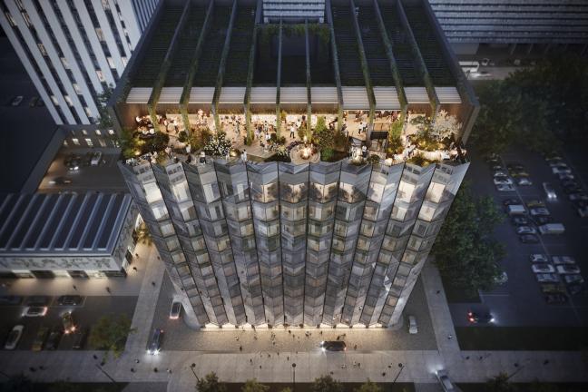 Zielony budynek otwarty na miasto: PURO hotel