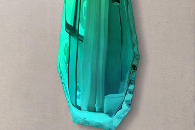 Wielobarwne lustra Oskara Zięty z nadmuchanego metalu