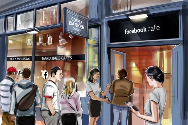 Facebook otwiera kawiarnie z darmową kawą