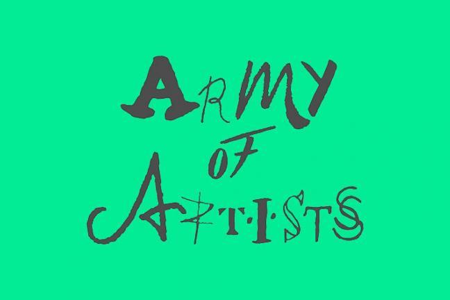 Font stworzony z podpisów artystów
