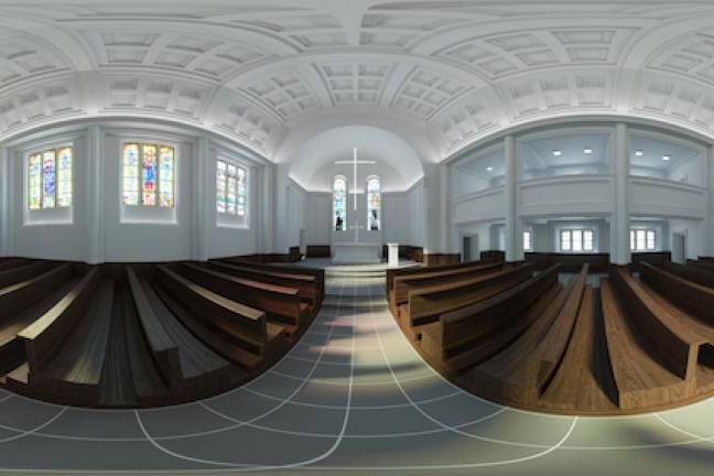 Rewitalizacja kościoła w Żórawinie minimalistycznym duchu
