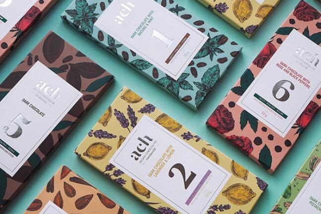 Wegańska czekolada w kolorze