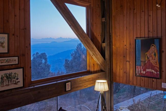Dom z widokiem na Himalaje