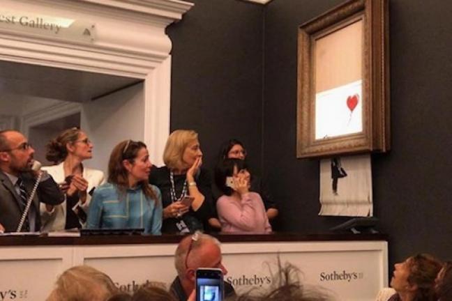 Dzieło Banksy'ego dokonało samozniszczenia