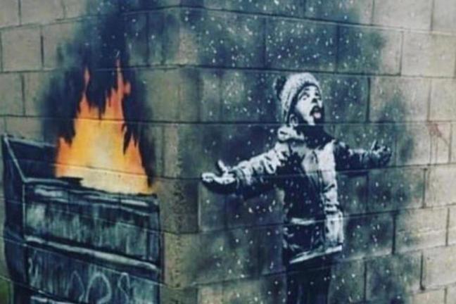 Banksy komentuje smog