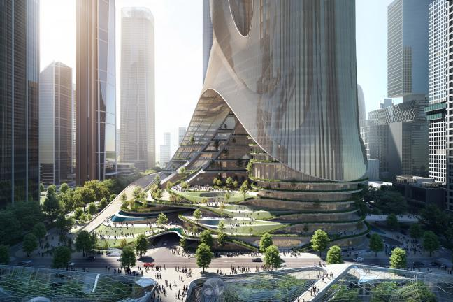 Wieżowiec z zielonymi tarasami od Zaha Hadid Architects