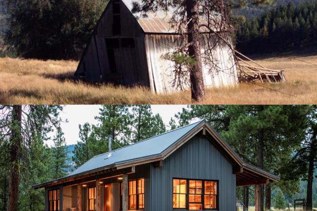 Przed i po: Chatki w lesie