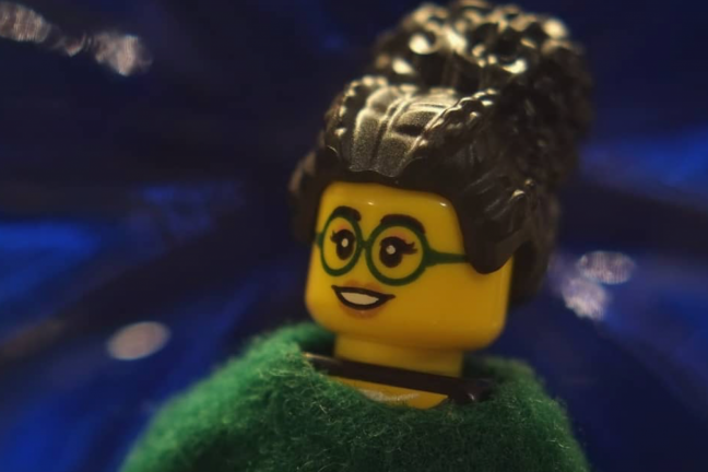 Figurki Lego z Olgą Tokarczuk