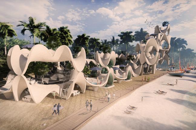 Architektura inspirowana rafą koralową