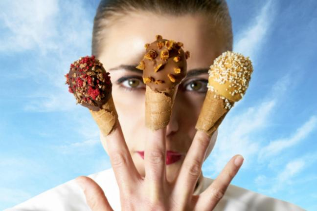 Ice cream that you can wear like a ring