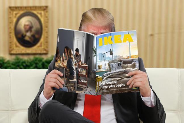 Mur Trumpa z IKEA