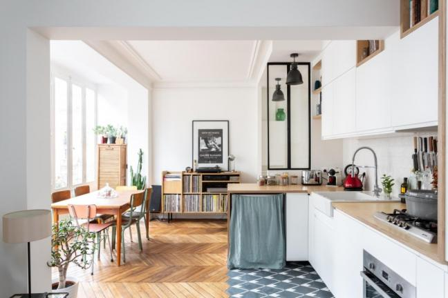 Paryskie mieszkanie młodej pary