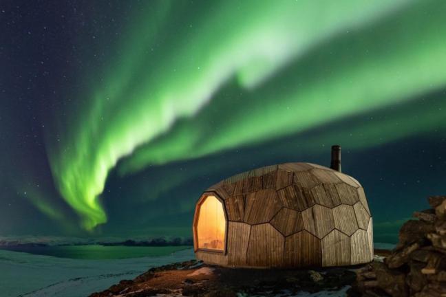 Górska chatka w Norwegii