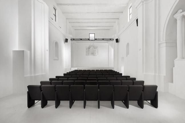 The church was turned into a theater room