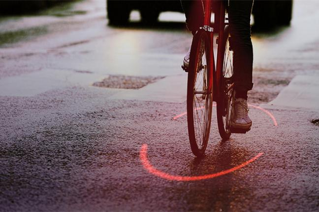 The red circle will protect the cyclist from the accident