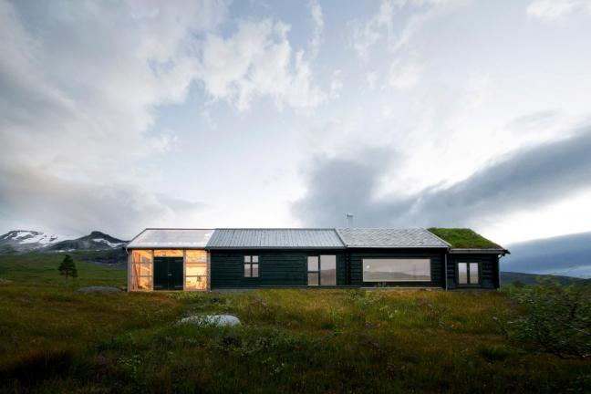 Niezwykły norweski dom w górach