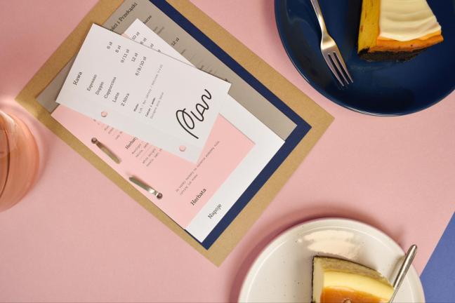 Identyfikacja wizualna kawiarni PLAN, stworzona przez młody kreatywny zespół!