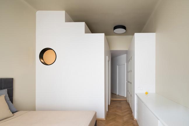 Schodkowe geometrie, czyli pomysł na małe mieszkanie