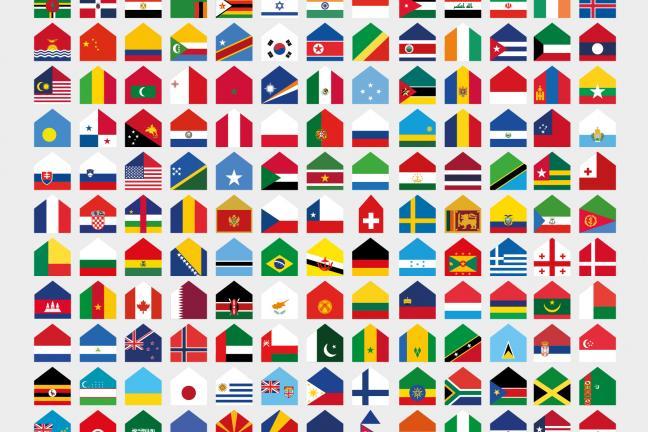 Domy z flag w obliczu epidemii