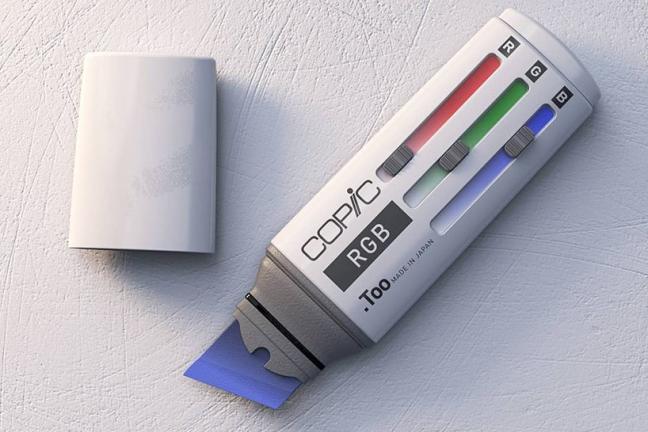 Marker ze skalą kolorów RGB
