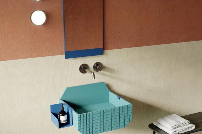 Kolorowa łazienka od Ex.t