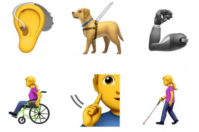 Apple proponuje wprowadzenie emoji postaci z niepełnosprawnościami