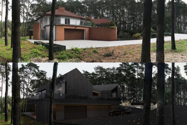 Przed i po: Drugie życie domu w rudym lesie