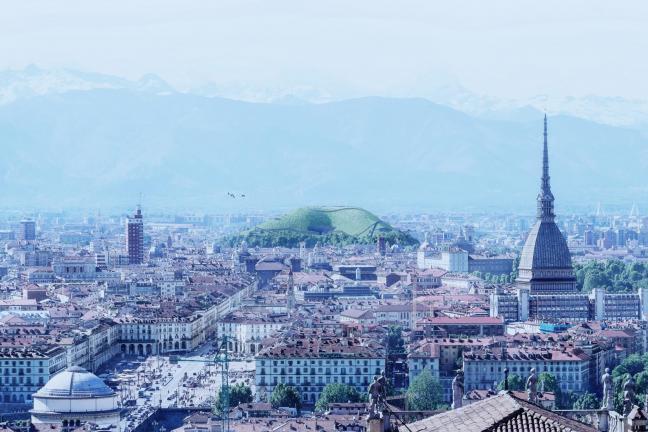 Sztuczna góra oczyście powietrze w Turynie