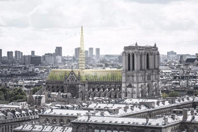 The green roof of Notre Dame