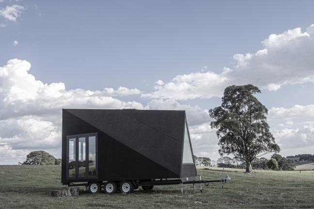 A minimalist house on wheels