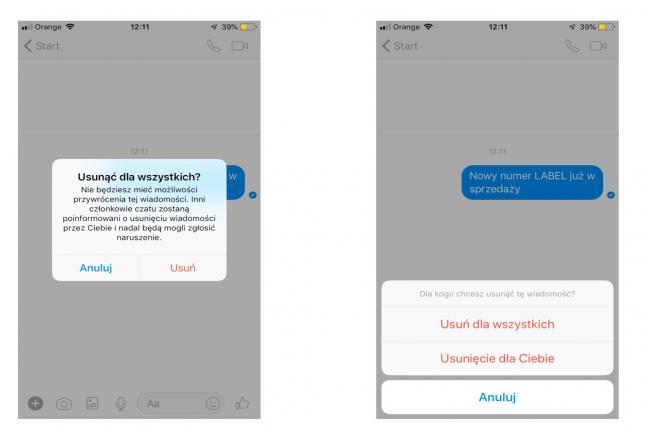 Już teraz możesz cofnąć pomyłkowo wysłaną wiadomość na Messengerze