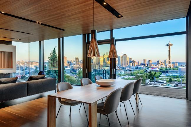 Dom z widokiem na Seattle