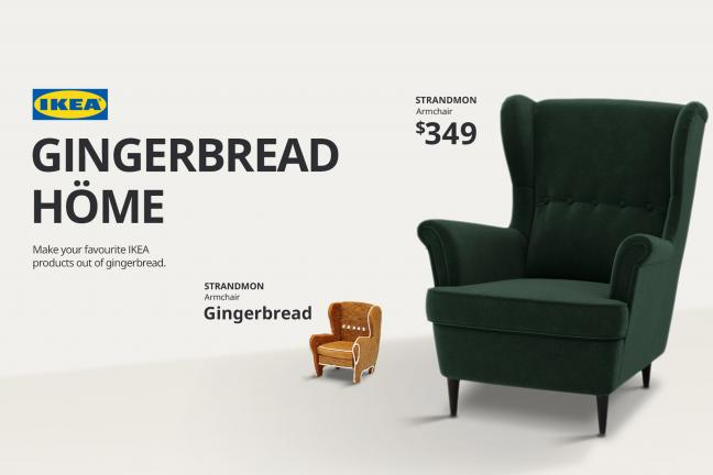 IKEA has created a collection of gingerbread furniture
