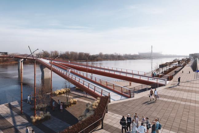 Warszawa: Most pieszo-rowerowy przez Wisłę coraz bliżej