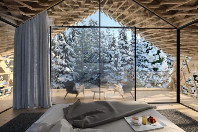 Luksusowy hotel w austriackim lesie